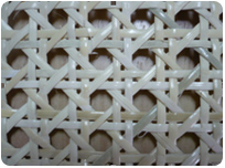 Bleached C grade rattan cane webbing