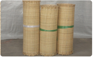 rattan mats made by machine