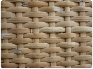 Closed woven cane webbing mesh 3x3 mm