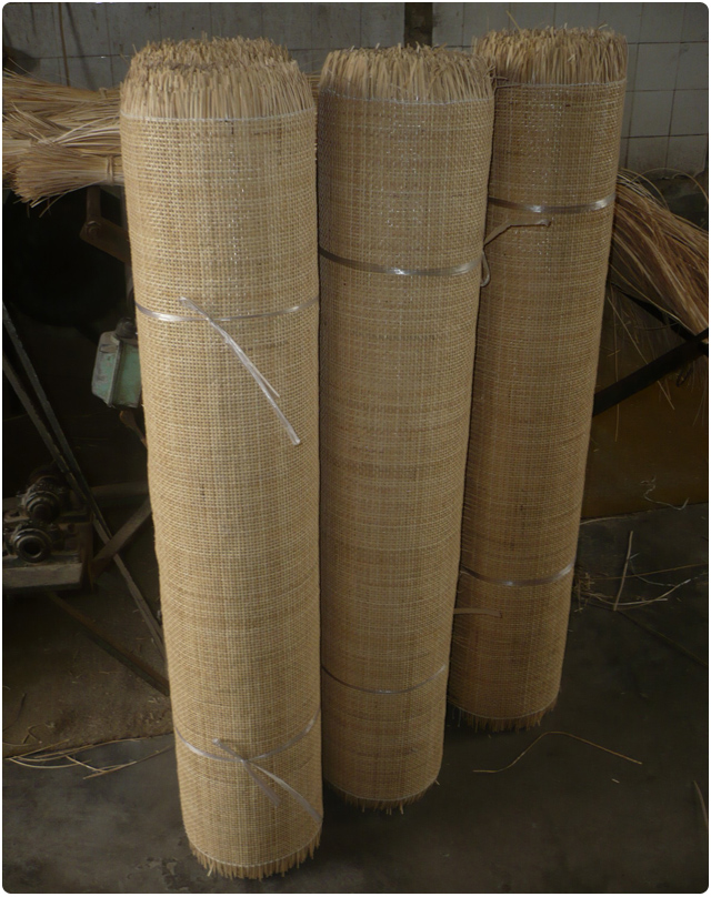 "36"" x 50 feets of the rattan  6x6 square mesh Natural"