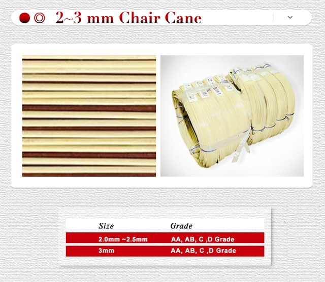 Chair Caning 2.0 mm to 4mm