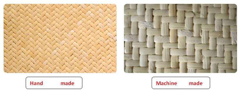 hand made and machine made rattan mat