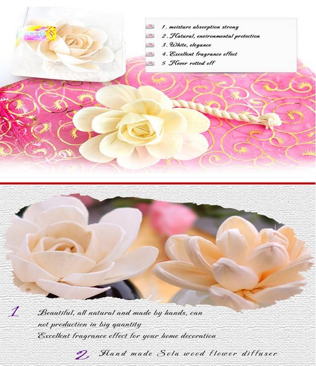 Sola Wood Flower Diffuser Rattan